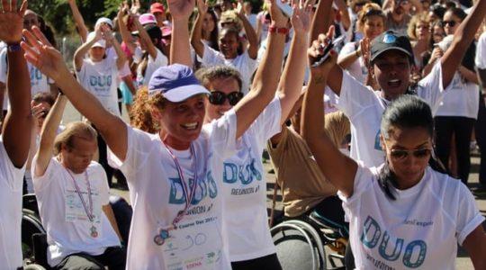 La course Duo avec la participation de notre relais île de la Réunion